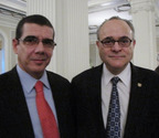 Cuban Diplomat Dr. Jose Cabanas Meets International Child Custody Attorney Jeffery M. Leving In Chicago