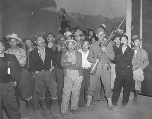 Upon arrival at Manzanar in the spring of 1942, Japanese Americans from southern California got a quick taste of what would lie ahead for the next 3-1/2 years. Armed Military Police would keep an eye on them in their new home in the shadow of the Sierra  ...