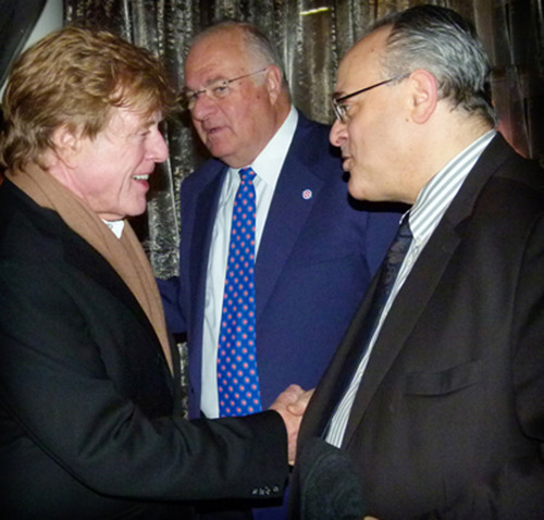 Attorney Jeffery Leving Celebrates with Movie Icon Robert Redford.  (PRNewsFoto/Law Offices of Jeffery M. Leving, Ltd.)