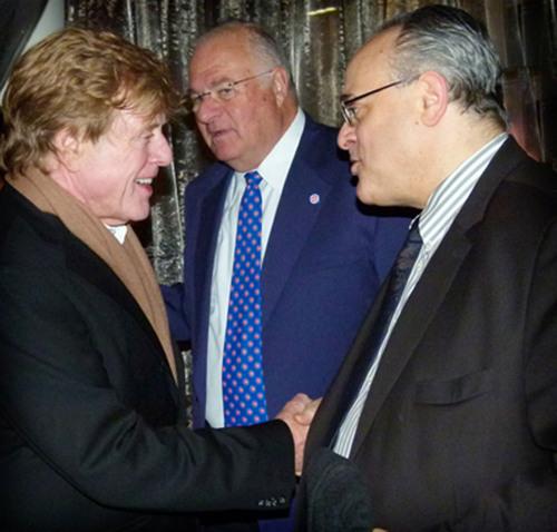 Attorney Jeffery Leving Celebrates with Movie Icon Robert Redford.  (PRNewsFoto/Law Offices of Jeffery M. ...