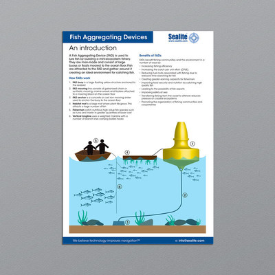 Sealite buoys selected for fish aggregating devices to for Fish aggregating device