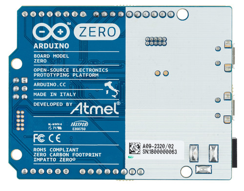 An overhead view of Arduino Zero (PRNewsFoto/Atmel Corporation)