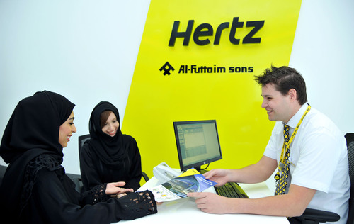Hertz has opened a new car rental branch at The Etihad Travel Mall on Sheikh Zayed Road.  (PRNewsFoto/The Hertz Corporation)
