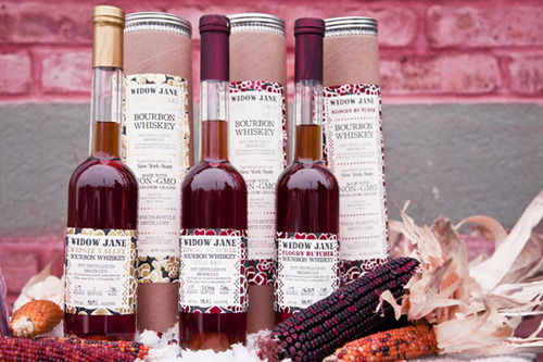 Each bottle of Wapsie Valley, Bloody Butcher, and Bloody Butcher High Rye Bourbon Whiskey is handsomely packaged in a tube box with a collectable print and a few kernels of our corn. (PRNewsFoto/Widow Jane) (PRNewsFoto/WIDOW JANE)