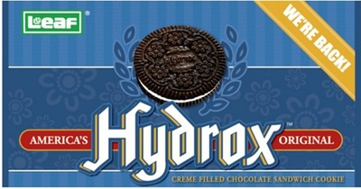 "Hydrox Sandwich Cookies is the ""Original Sandwich Cookie"" and will be reintroduced in September. (PRNewsFoto/LEAF Brands, LLC)"