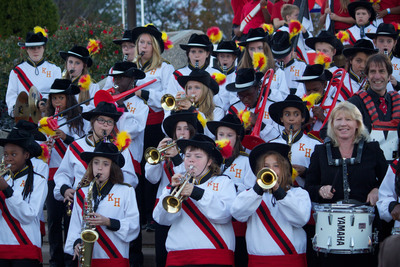Grammy-nominated Music Teacher, Lisa Bianconi, with the Kurn Hattin Homes for Children Marching Band.  (PRNewsFoto/Kurn Hattin Homes for Children)