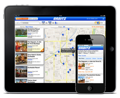 "Orbitz unveils powerful new mobile website and Orbitz ""Mobile Steals,"" mobile-only discounts of up to 50% on hotels worldwide.  (PRNewsFoto/Orbitz.com)"
