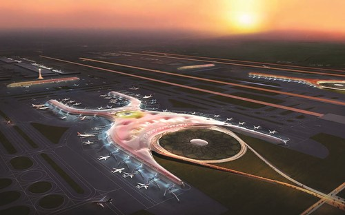 Render of planned new airport for Mexico City as the country further improves its international transport infrastructure (PRNewsFoto/Mexico Tourism Board)