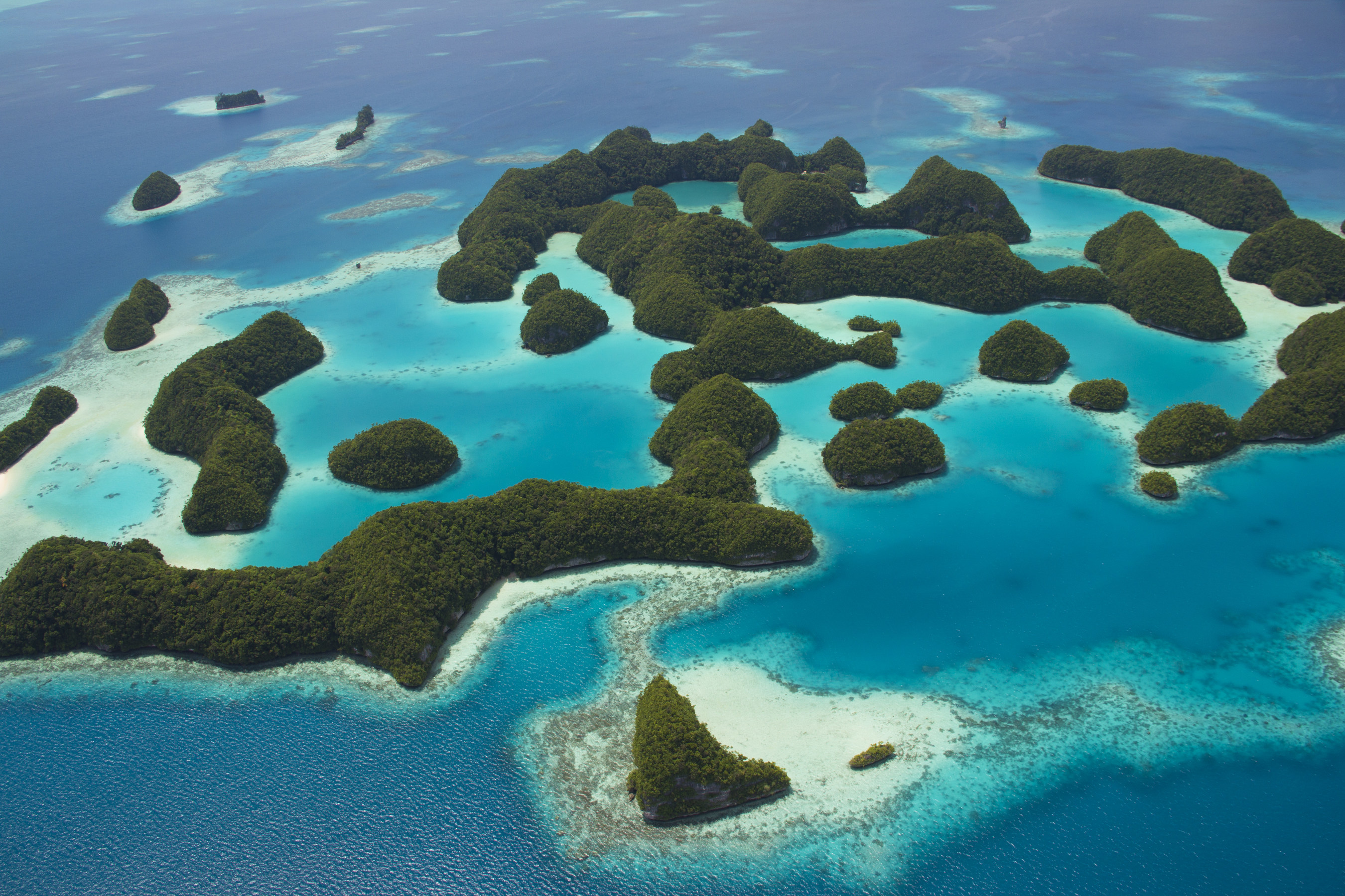 Palau is a Pacific archipelago of more than 250 islands.