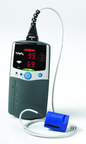 The U.S. Veteran's Administration chose Nonin Medical's PalmSAT(R) 2500A Handheld Pulse Oximeter for use in its V.A. Hospitals. Nonin's American-made PalmSAT Model 2500A uses proprietary PureSAT pulse-by-pulse filtering to provide precise SpO2 measurements -- even in the presence of poor perfusion, patient movement, dark skin tone, and other conditions that can affect accurate pulse oximetry readings. The device can provide clinicians an early warning of hypoxemia.  (PRNewsFoto/Nonin Medical, Inc.)