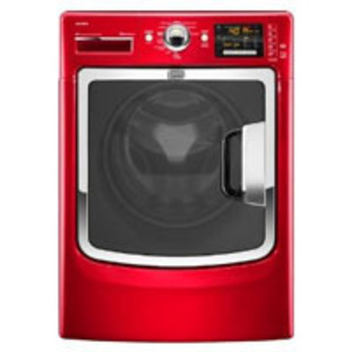 The bright red Maytag MHW6000X front load washer.  (PRNewsFoto/10rate)