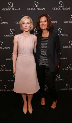 Cate Blanchett and Roberta Armani(C)Dave M. Benett-Getty Images (PRNewsFoto/Giorgio Armani Parfums)