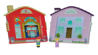 The AppVentures iDollhouse and iFirehouse for iPad. (PRNewsFoto/New Adventures) (PRNewsFoto/NEW ADVENTURES)
