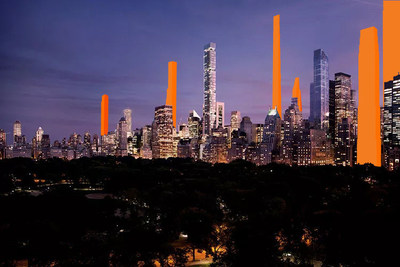 What's not shown in a supertall advertisement?