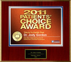 Dr. Jody Gordon Selected For Patients' Choice Award 2011.  (PRNewsFoto/American Registry)