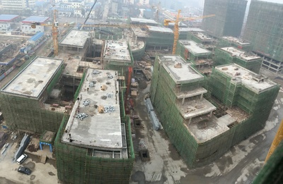 Construction at Kingold Jewelry International Industrial Park - Wuhan, China, January 20, 2015