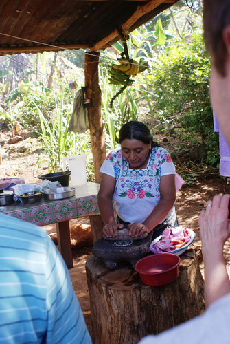 Private tortilla-making lessons with Mayan matriarch, for guests of Mariposa Jungle Lodge.  ...