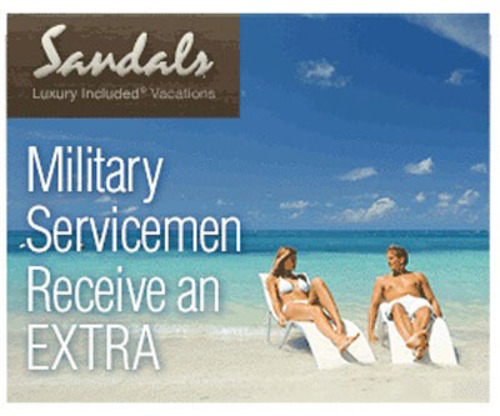 Travel Shopping Mall MyReviewsNow.net Spotlights Sandals Resorts Military Discount In Honor Of