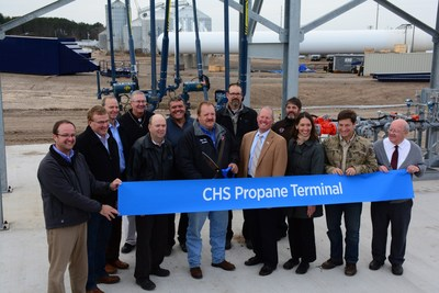 CHS Propane Terminal Ribbon Cutting in Hixton, Wis.