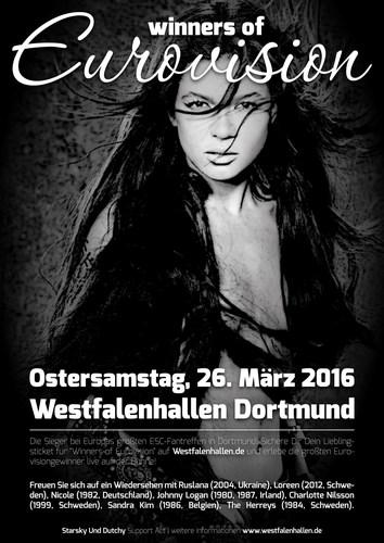 Live concert 'Winners of Eurovision' Saturday March 26, 2016, Westfalenhallen in Dortmund, Germany ...
