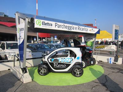 "Charging Station ""Elettra"" installed at Marconi Airport of Bologna."