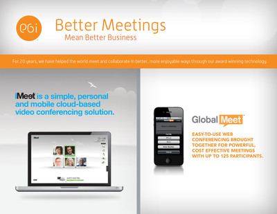 Your meetings suck. They don't have to. Desktop video. Anyone, anywhere. iMeet.  (PRNewsFoto/Frost & Sullivan)