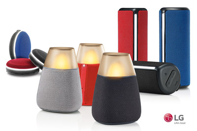 LG Electronics expands U.S. audio line with portable Bluetooth speakers.