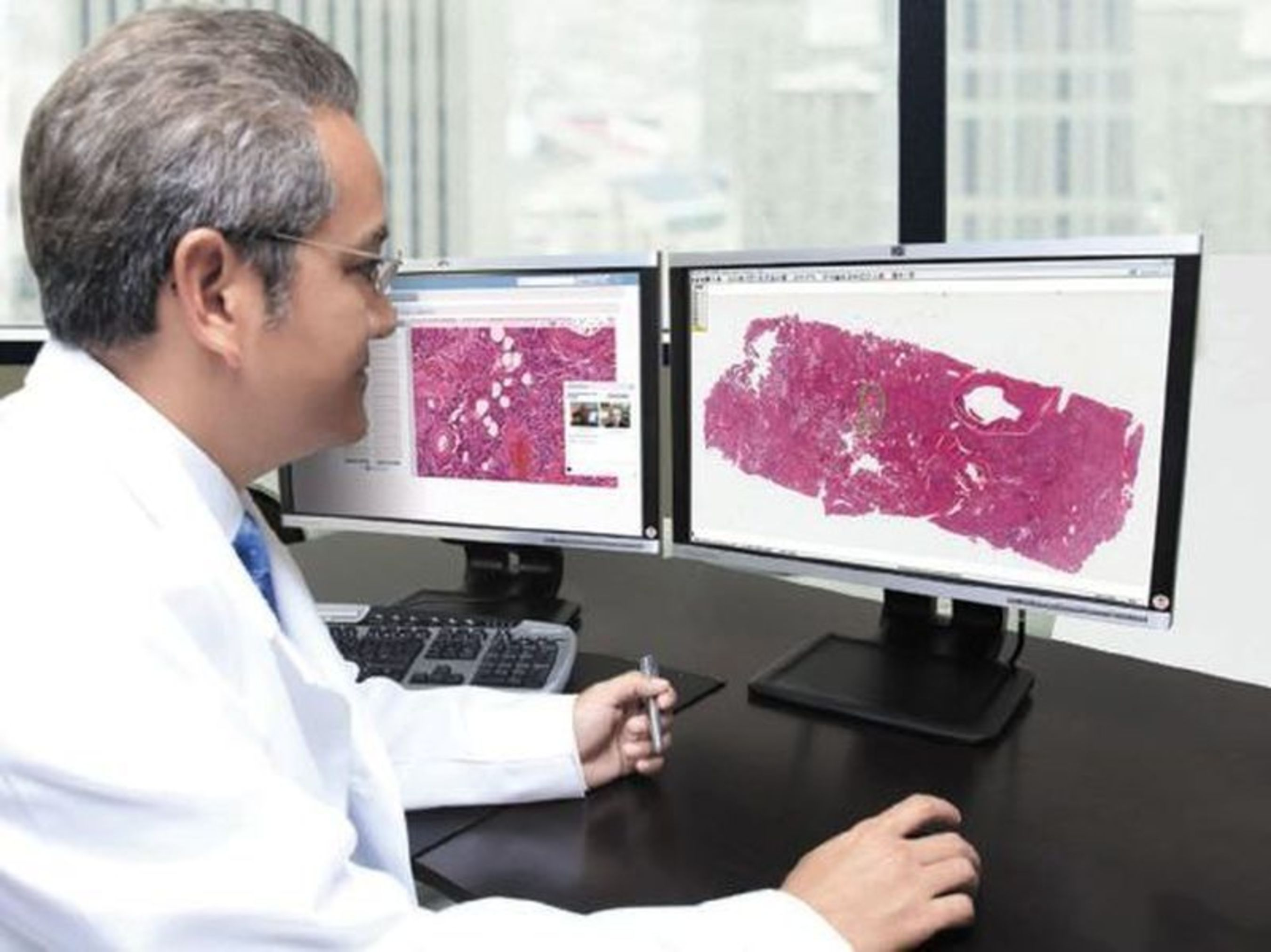 Aperio ePathAccess allows pathologists to securely and quickly upload patient case information and associated digital pathology images to the cloud-based software for rapid consultation, collaboration, and quality assurance. The ISO 27001 certification reflects the high level of security provided by Aperio ePathAccess. (PRNewsFoto/Leica Biosystems)