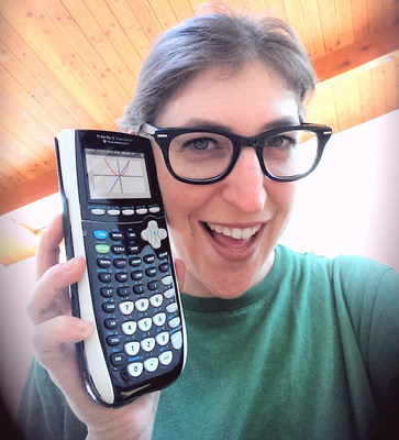 Show how Texas Instruments technology makes math or science more meaningful for your chance to go back to school with a bang! Submit a selfie with your favorite Texas Instruments technology. The winner and his or her class will receive a classroom set of graphing calculators and a video-conference call, in class, from Emmy-nominated actress and STEM (Science, Technology, Engineering and Math) advocate, Mayim Bialik. www.TISelfie.com (PRNewsFoto/Texas Instruments)