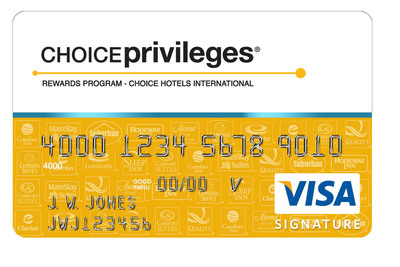 New Choice Privileges(R) Visa Signature(R) Card Represents A Great Way for Consumers to Save on Next Vacation: Get the Card and Earn 2 Free Nights at Over 1,500 Locations!  (PRNewsFoto/Choice Hotels International, Inc.)