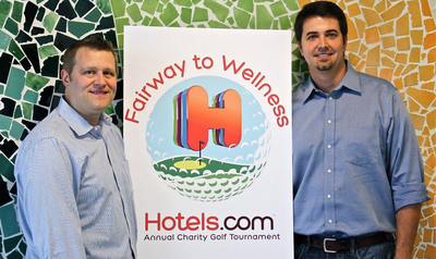 Fairway to Wellness is the brainchild of two Dallas-based Hotels.com employees, Matt Goynes and Brad Koettel, who have been affected by cancer and diabetes.  (PRNewsFoto/Hotels.com)