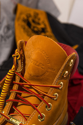 DTLR, urban lifestyle retailer, celebrates 30 years with daily giveaways to customers and nonprofits. Photographed is a limited, special-edition DTLR Timberland boot produced by Timberland in celebration of the retailer's 30th anniversary.  (PRNewsFoto/DTLR)
