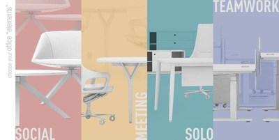 """""""Elements"""" has been designed to meet various office usage scenarios of the employees during the day. (PRNewsFoto/Burotime Office Furniture Co.)"""