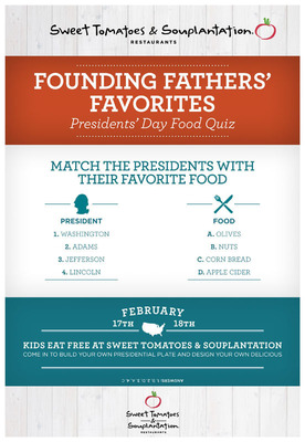 Kids Get Presidential Treatment at Sweet Tomatoes and Souplantation, With Free Meals, and Favorites of the Founding Fathers