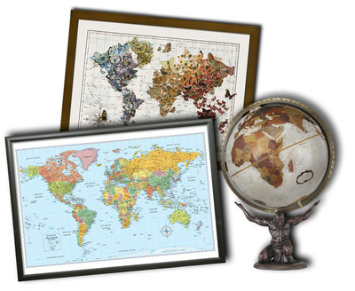 Rand McNally can help you wake up your walls with a new variety of wall maps and map art available for home and office.