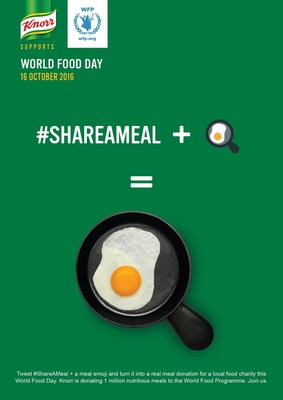 Tweet #ShareAMeal and a food emoji between October 13 - 20, 2016 and receive a link to Paypal to give $5 or an amount of your choice to Global FoodBanking Network, which will be allocated to benefit local and global charities