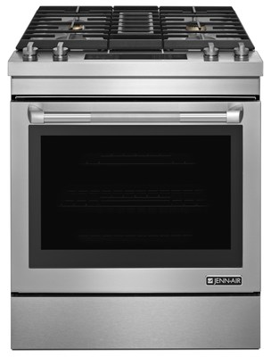 Jenn-Air is introducing a 30-inch range with downdraft ventilation that also features its first-ever option for duct-free range installation.