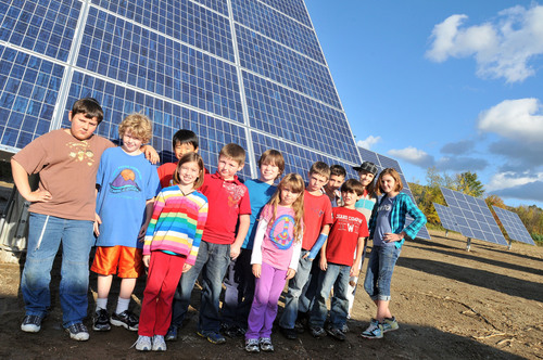 Robinson Elementary School, Starksboro Town and AllEarth Renewables Install 100 Kilowatts of Solar