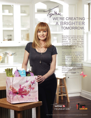Marg Helgenberger to appear in PSA campaign for The Safeway Foundation & SU2C.  (PRNewsFoto/Stand Up To Cancer)