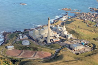 Peterhead Power Station. Image courtesy of Scottish and Southern Energy.