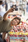 Adrian Grenier snapped a #DrinkGoodDoGood fruit selfie at an Upper West Side farmer's market. The actor has paired up with Naked Juice and Wholesome Wave to help bring fresh fruits and vegetables to those in need.