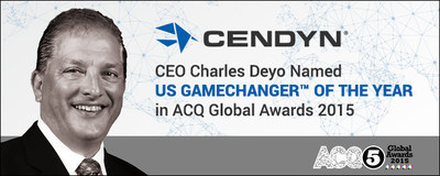 CEO Charles Deyo Named US 'Gamechanger of the year' for online hospitality marketing solutions in ACQ5 Global Awards 2015 (PRNewsFoto/Cendyn)