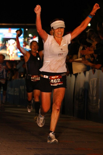 Dr. Susan Hardwick-Smith of Houston, TX finishes her first Ironman Triathlon raising $31,000 to benefit the ...