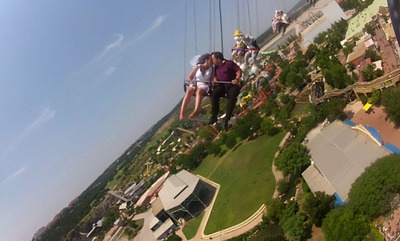 Whirling Thrills and Wedding Excitement As SkyScreamer Opens at Six Flags Fiesta Texas