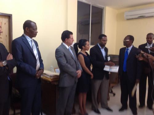 Haiti Mining Exploitation Permit Ceremony.  (PRNewsFoto/VCS Mining, Inc)