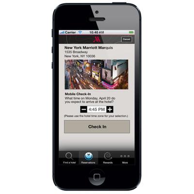 Marriott Hotels Mobile Guest Services App. (PRNewsFoto/Marriott International) (PRNewsFoto/MARRIOTT INTERNATIONAL)