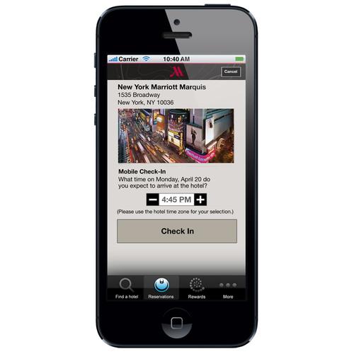 Marriott Hotels Mobile Guest Services App.  (PRNewsFoto/Marriott International)