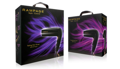 Rampage Hairdryer Packaging Design