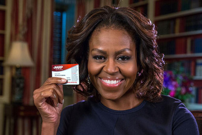 AARP Congratulates Michelle Obama on her 50th Birthday.  (PRNewsFoto/AARP, White House)