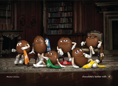 chocolate's better with m. (PRNewsFoto/Mars Chocolate North America) (PRNewsFoto/MARS CHOCOLATE NORTH AMERICA)